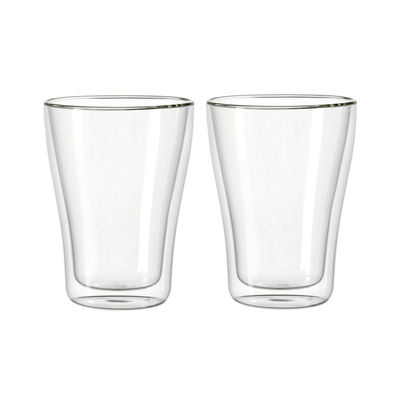 Tableware - Wine Glasses & Glassware - Duo Verre isotherme by Leonardo - Transparent - Glass