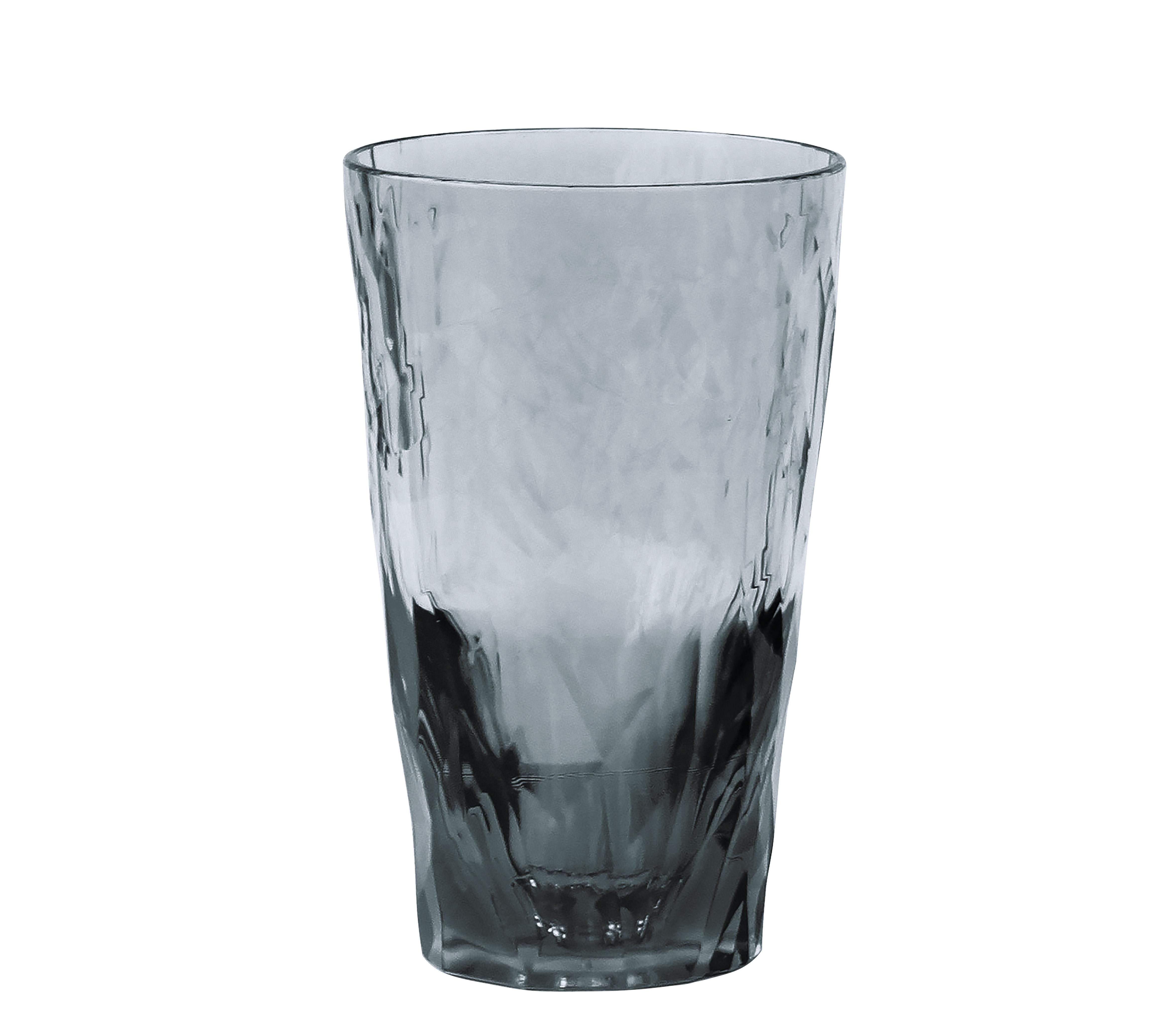 Arts de la table - Verres  - Verre long drink Club No. 6 / H 14 cm - Koziol - Gris - Plastique