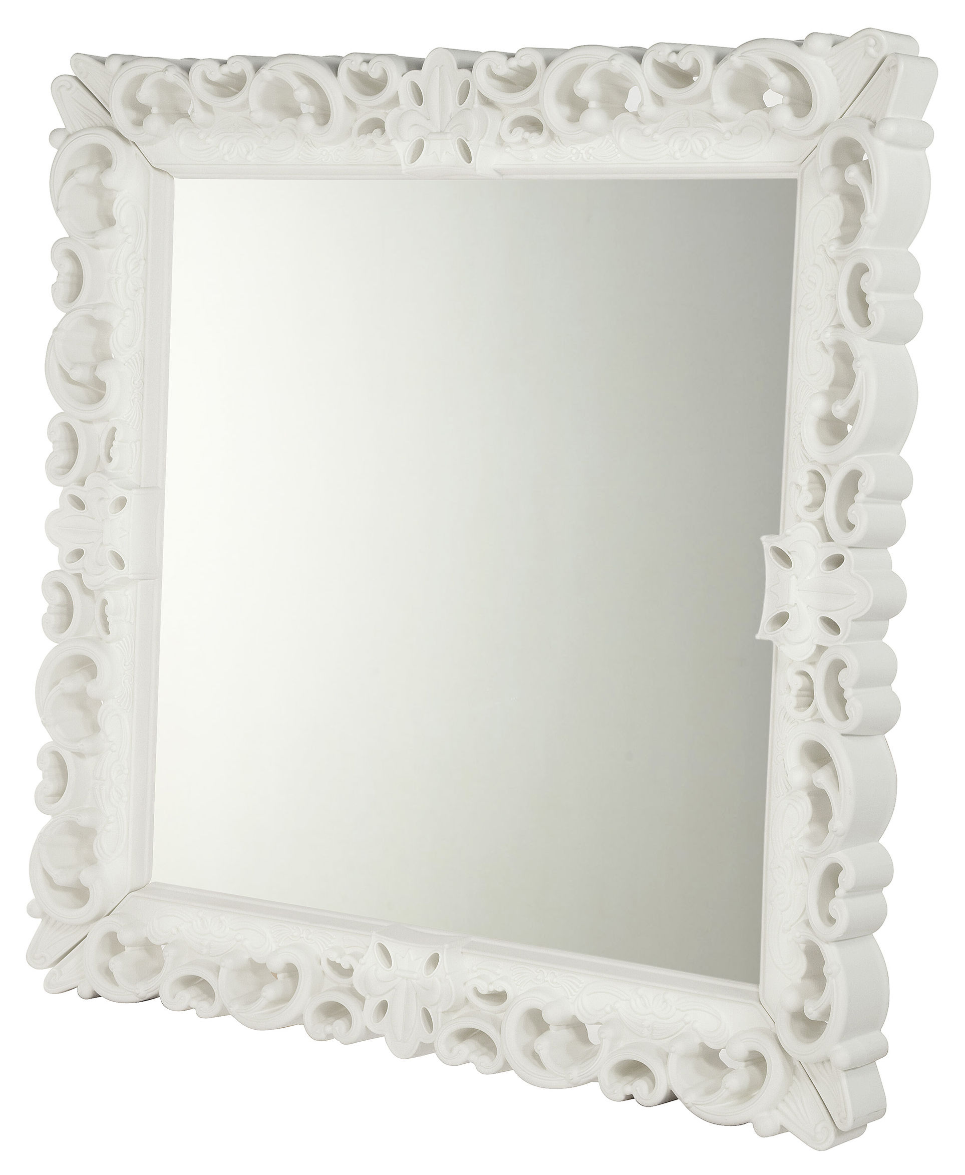 Outdoor - Ornaments & Accessories - Mirror of Love Wall mirror - 153 x 153 cm by Design of Love by Slide - White - roto-moulded polyhene