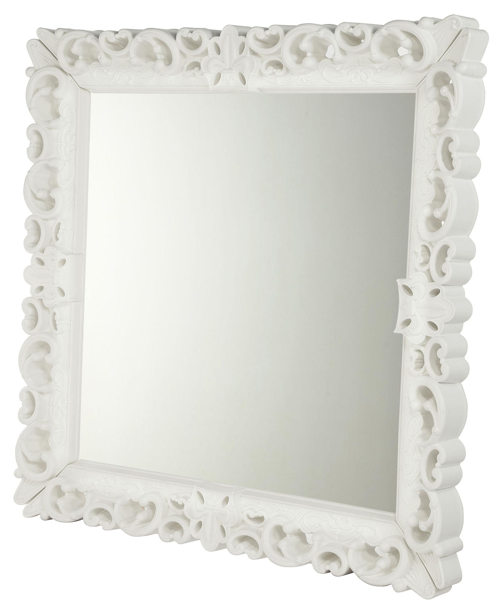 Outdoor - Deko-Accessoires für den Garten - Mirror of Love Wandspiegel / 153 x 153 cm - Design of Love by Slide - Weiß - rotationsgeformtes Polyäthylen