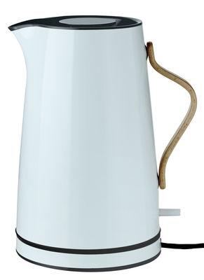 Küche - Teekannen und Wasserkessel - Emma Wasserkocher / 1,2 l - Stelton - Hellgrau & holzfarben - Buchenfurnier, rostfreier lackierter Stahl