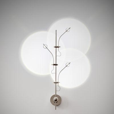 Luminaire - Appliques - Applique Wa Wa / LED - H 60 cm - Catellani & Smith - Argent - Cuivre plaqué nickel, Métal plaqué nickel