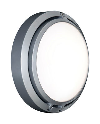 Illuminazione - Lampade da parete - Applique d'esterno Metropoli - LED int/est - Ø 17 cm di Luceplan - Alluminio verniciato - Ghisa di alluminio, Policarbonato opalina