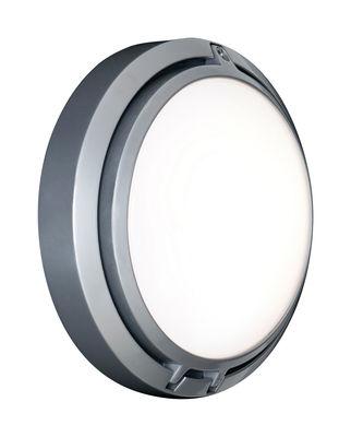 Luminaire - Appliques - Applique d'extérieur Metropoli LED / Ø 17 cm - Luceplan - Aluminium poli - Fonte d'aluminium, Polycarbonate opalin