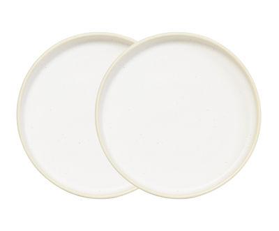 Arts de la table - Assiettes - Assiette Otto / Set de 2 - Ø 25 cm - Frama  - Blanc - Grès émaillé