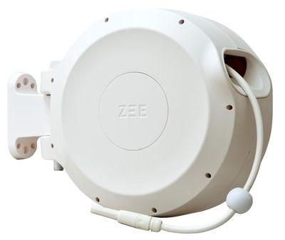 Outdoor - Töpfe und Pflanzen - Mirtoon Bewässerungsschlauch 30 m / automatischer Aufrollmechanismus - Spritzpistole gratis - Zee - Weiß - ABS, PVC