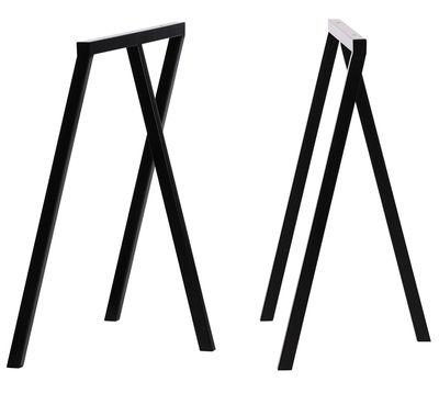 Möbel - Büromöbel - Loop Bock-Paar - Hay - Schwarz - lackierter Stahl