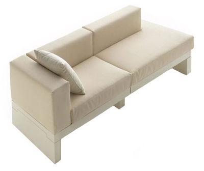 Canapé droit Bellini Hour accoudoir droite L 190 cm Serralunga ivoire en tissu
