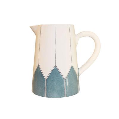 Tavola - Caraffe e Decantatori - Caraffa Daria - / Ceramica dipinto a mano di Maison Sarah Lavoine - Celadon - Ceramica smaltata