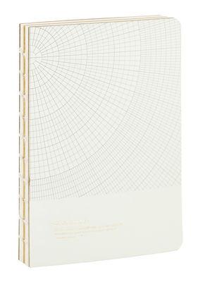 Accessoires - Bloc-notes, cahiers et stylos - Carnet Monograph - House Doctor - Vert très pâle / Motifs gris - Carton, Papier