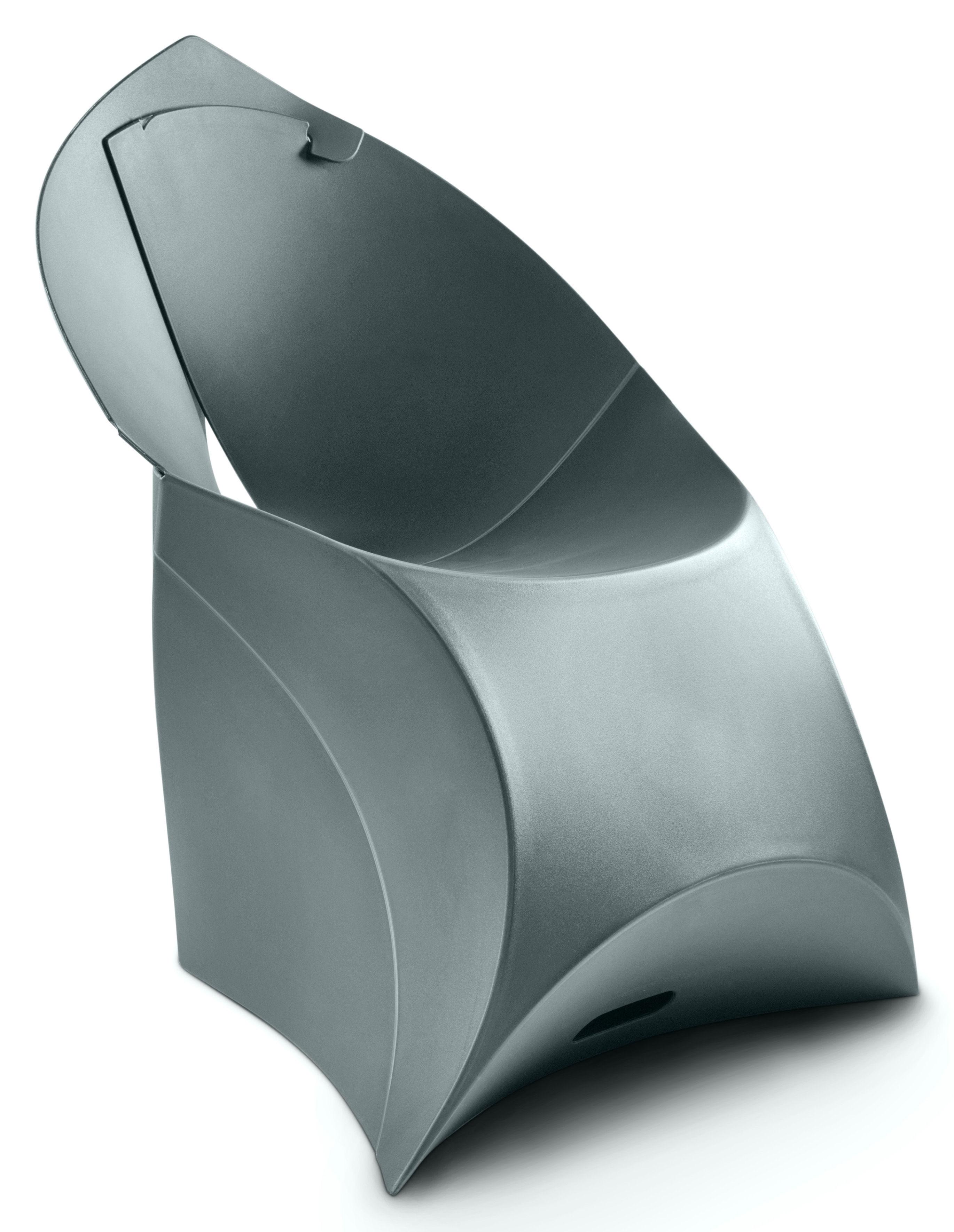Furniture - Kids Furniture - Flux Chair Children armchair by Flux - Anthracite gray - Polypropylene