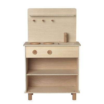 Furniture - Kids Furniture - Toro Children kitchen - / Wood by Ferm Living - Natural wood - Natural beechwood, Plywood
