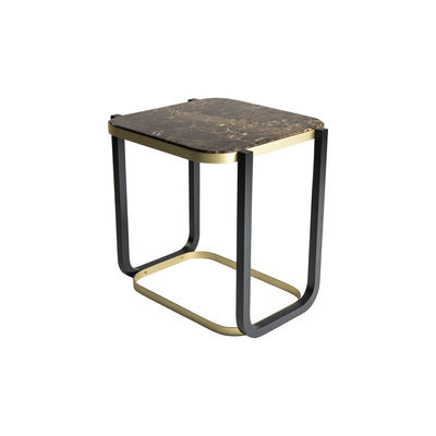 Furniture - Coffee Tables - Duet Coffee table - / 45 x 50 cm x H 50 cm - Marble by Wiener GTV Design - Brown marble - Marble