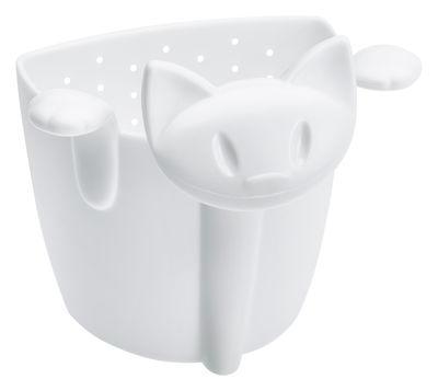 Tavola - Caffè - Colino da tè Miaou di Koziol - Bianco - Materiale plastico