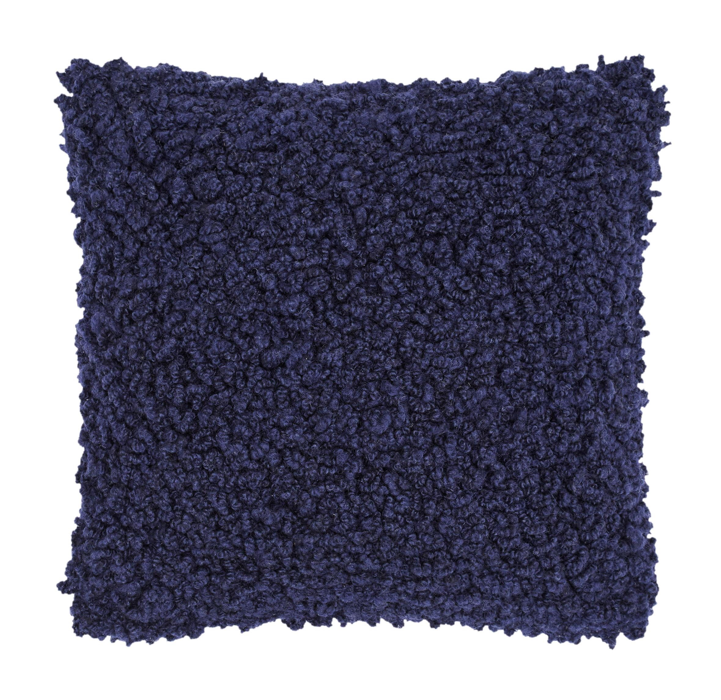 Déco - Coussins - Coussin Boucle / Laine bouclée - 45 x 45 cm - Tom Dixon - Bleu - Laine bouclée, Plumes de canard