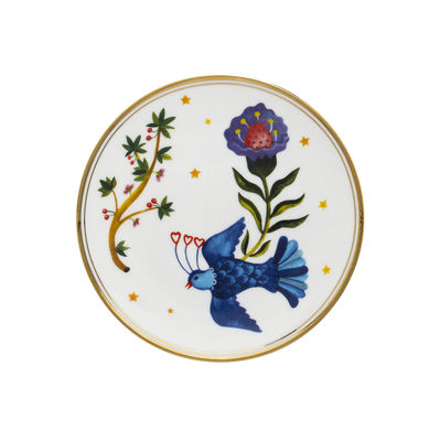 Tableware - Plates - Uccellino Dessert plate - / Ø 15 cm by Bitossi Home - Bird - China