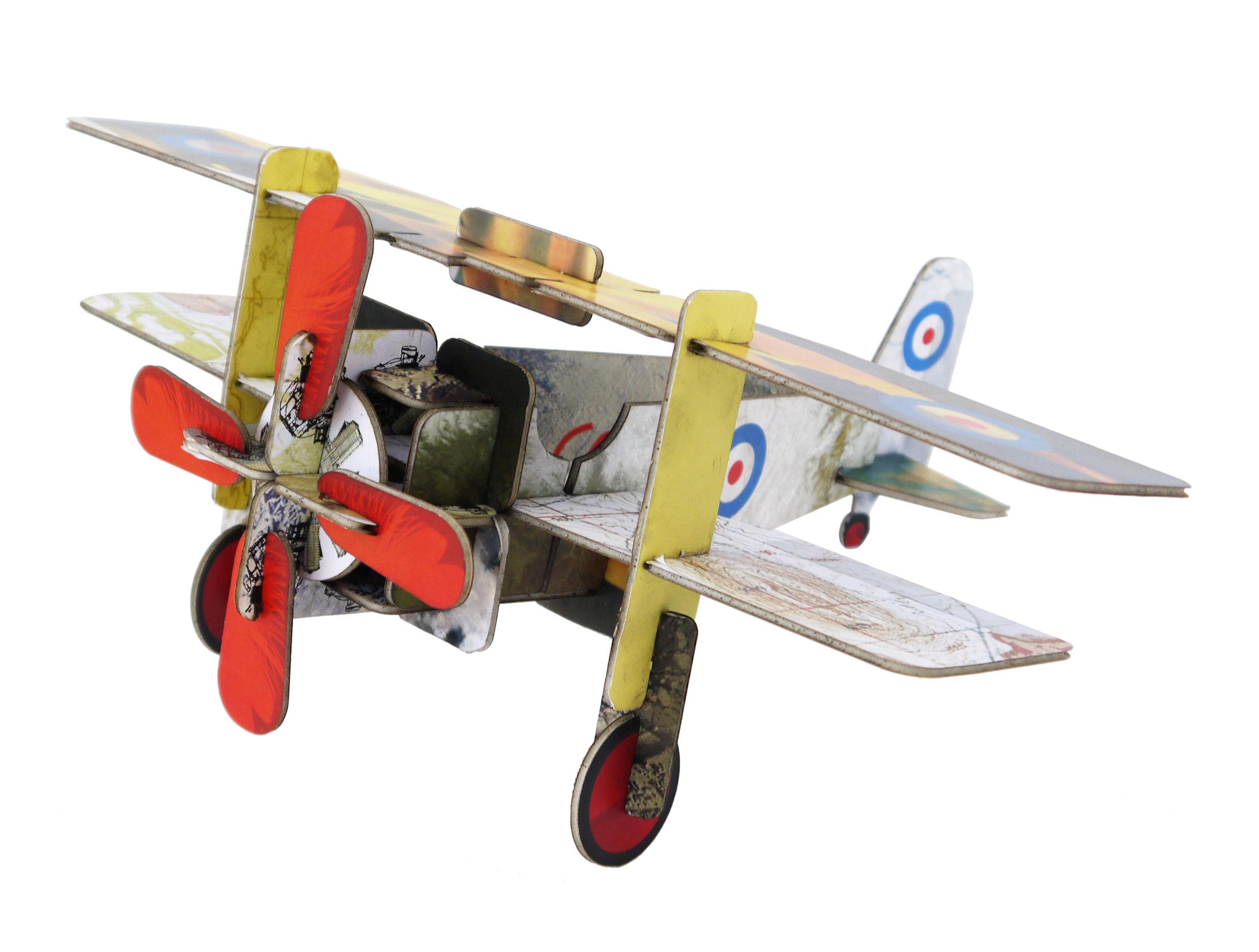 Déco - Pour les enfants - Figurine à construire Play! Avion / Carton - studio ROOF - Avion / Multicolore - Carton recyclé