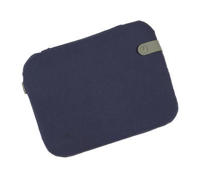 Galette Color Mix / Pour chaise Bistro - 38 x 30 cm - Fermob bleu nuit,cactus en tissu