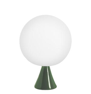 Lampada da tavolo globo di slide bianco verde made in design for Lampada da tavolo verde