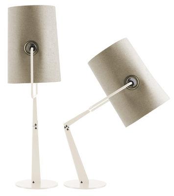 Lampe de table Fork - Diesel with Foscarini ivoire en tissu