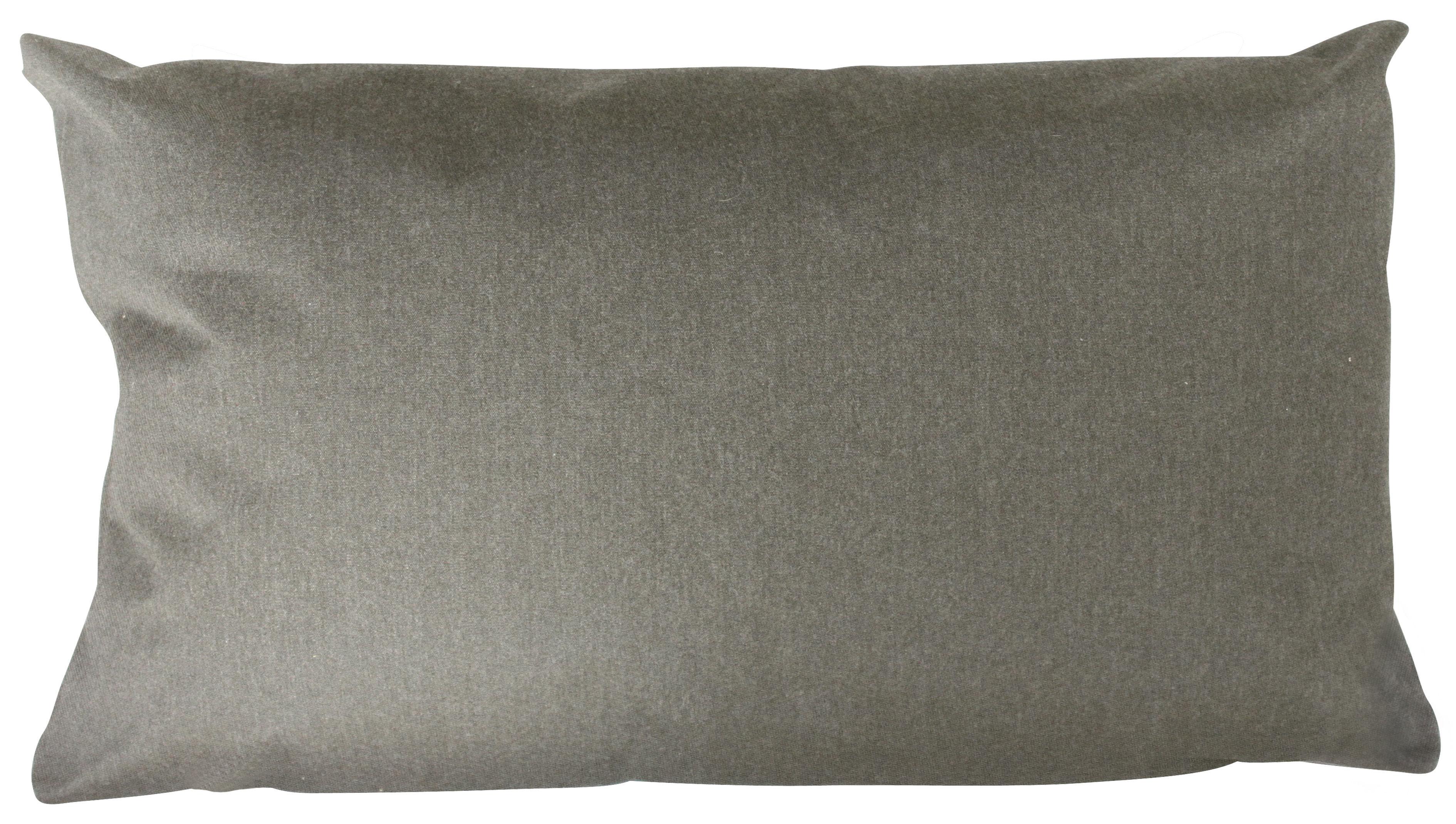 Möbel - Sitzkissen - Large Outdoor-Kissen / outdoorgeeignet - 90 x 50 cm - Trimm Copenhagen - Grau - Leinen