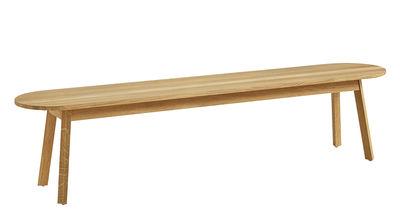 Arredamento - Panchine - Panchina Triangle - / L 200 cm di Hay - Rovere oliato - Rovere
