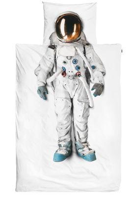 Parure de lit 1 personne Astronaute / 140 x 200 cm - Snurk blanc en tissu