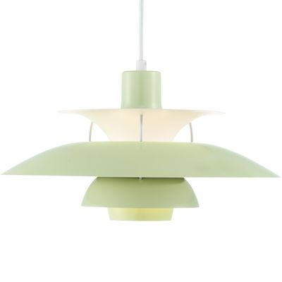 Lighting - Pendant Lighting - PH 50 Pendant - Ø 50 cm / Finition laquée by Louis Poulsen - Wasabi green / Aluminium stems - Aluminium