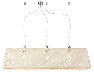 Komodo Pendelleuchte / Bambus - L 130 cm - GOOD&MOJO - Weiß