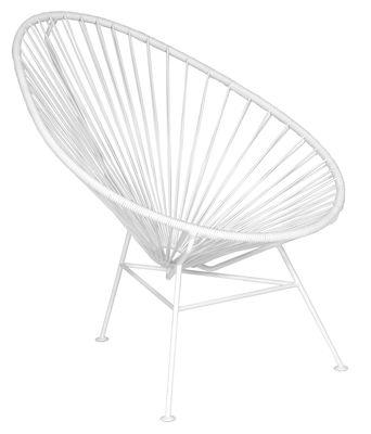 Arredamento - Poltrone design  - Poltrona bassa Acapulco di OK Design pour Sentou Edition - Bianca / Base bianca - Acciaio laccato, Materiale plastico