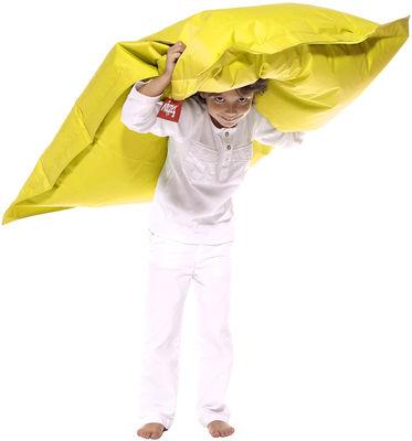 Pouf Junior / Pour enfant - Fatboy Larg 100 x L 130 cm jaune en tissu
