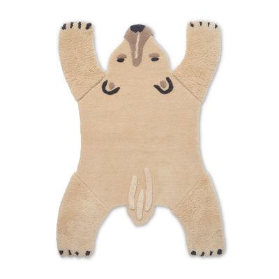 Decoration - Children's Home Accessories - Animal Rug - / Polar bear - 118 x 160 cm by Ferm Living - Polar bear - New-zealand wool