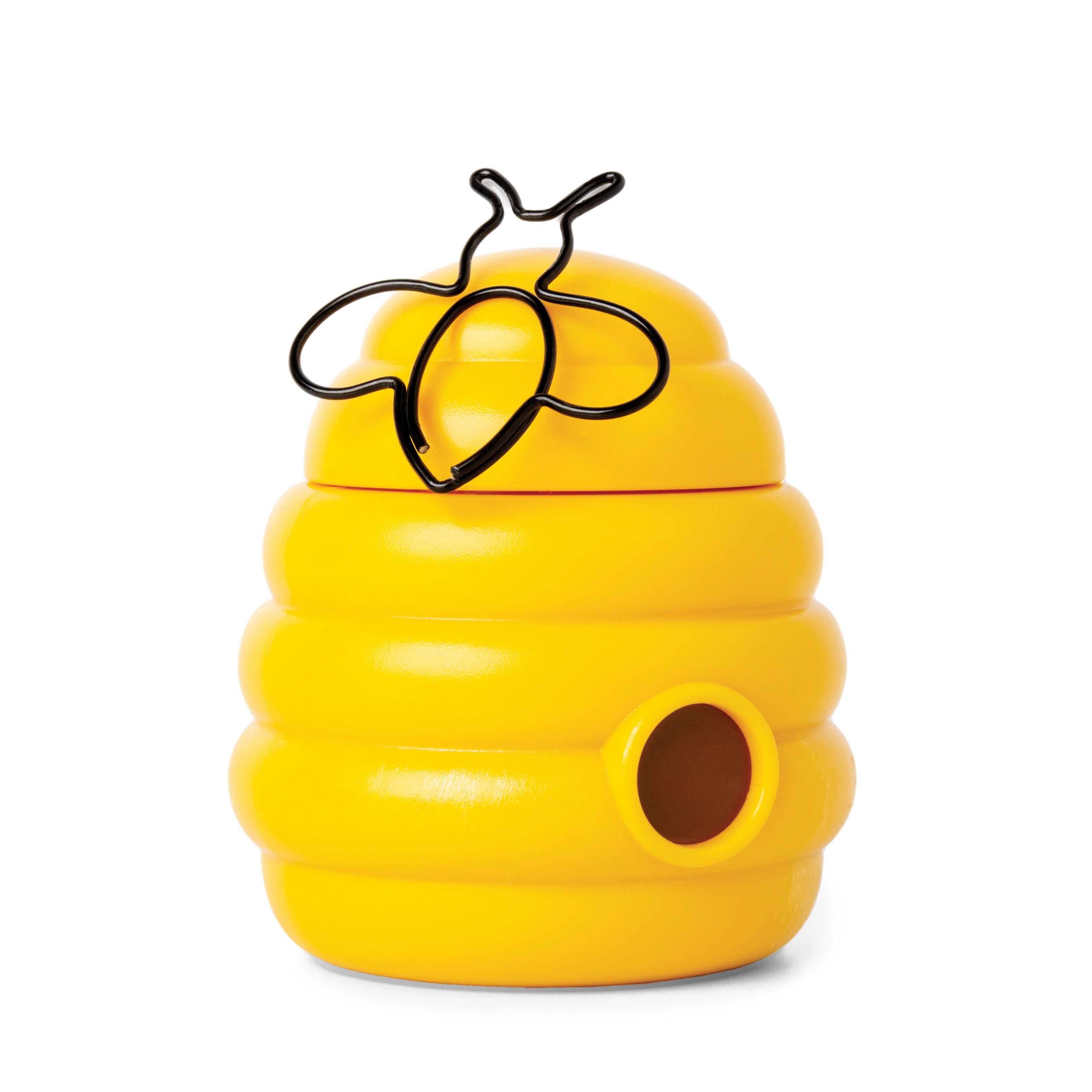 Accessori moda - Accessori ufficio - Scatola magnetica Busy Bees - / + 20 clips a forma di ape di Pa Design - Giallo & nero - Metallo, Polipropilene