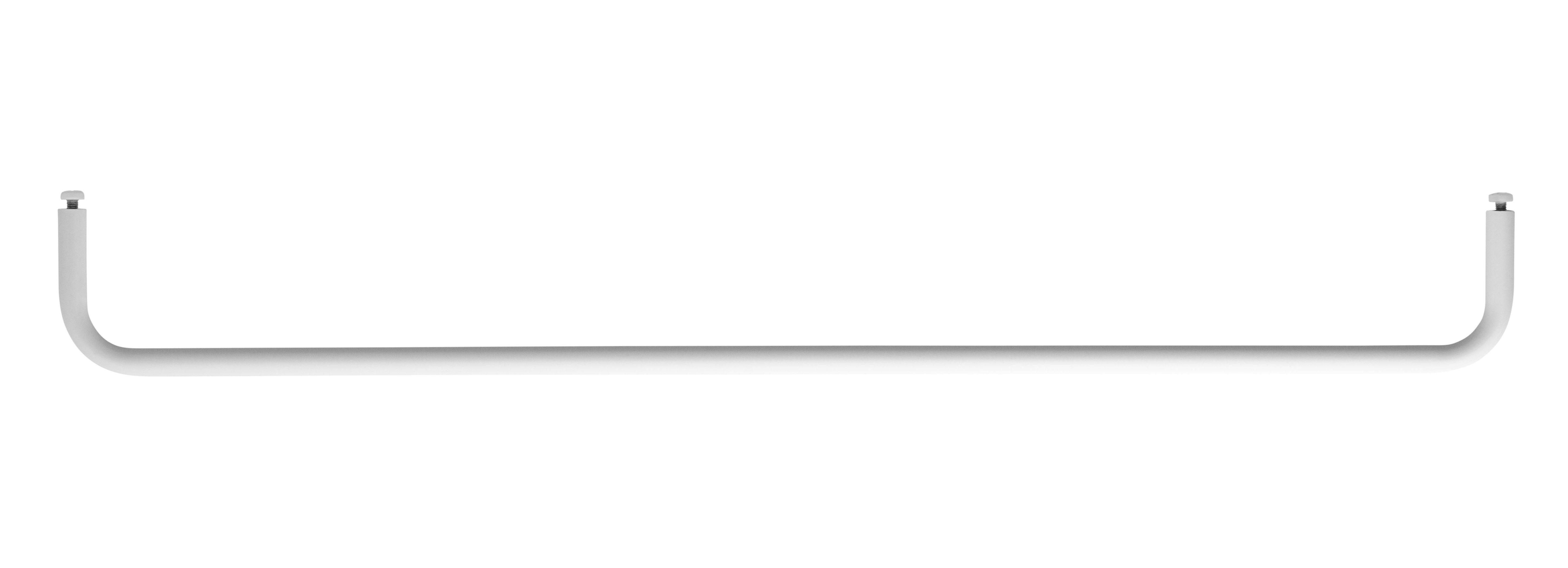 Arredamento - Scaffali e librerie - Sospensione bar Large - / L 78 cm - Per mensole in metallo traforato di String Furniture - L 78 cm / Bianco - metallo laccato