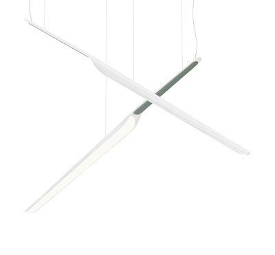Image of Sospensione Swan Wing - / Legno - L 118 cm di Tunto - Bianco - Legno