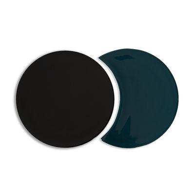 Tavola - Sottopiatti - Sottopentola Eclipse - / Ceramica - Set di 2 forme intrecciabili di Maison Sarah Lavoine - Blu Sarah - Ceramica