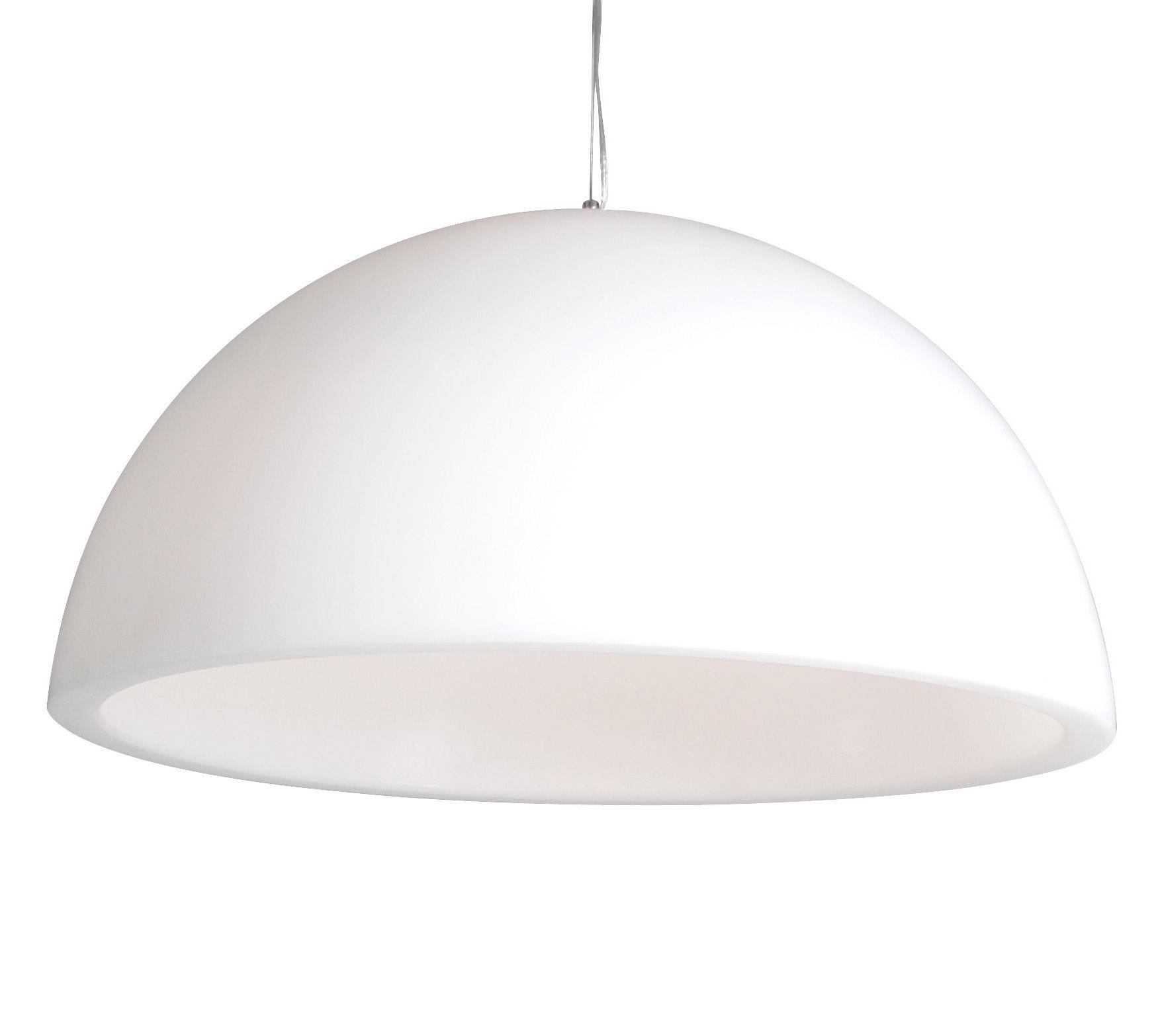 Luminaire - Suspensions - Suspension Cupole Ø 120 cm / Version mate - Slide - Blanc - polyéthène recyclable