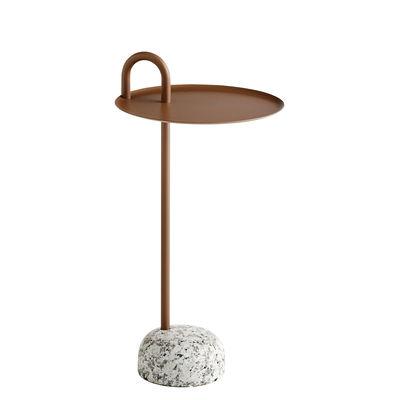 Table d'appoint Bowler / Métal & granit - Hay marron,gris en métal
