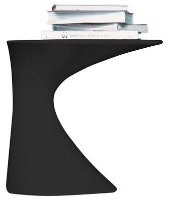 Table d'appoint Tod - Zanotta noir laqué en matière plastique