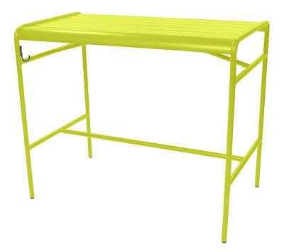 Table haute Luxembourg / 4 personnes - 126 x 73 cm - Aluminium - Fermob verveine en métal