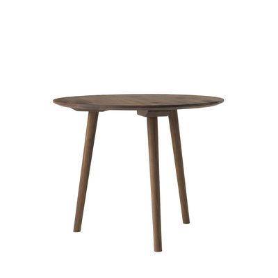 Table ronde In Between SK3 / Ø 90 cm - Noyer - &tradition bois naturel en bois
