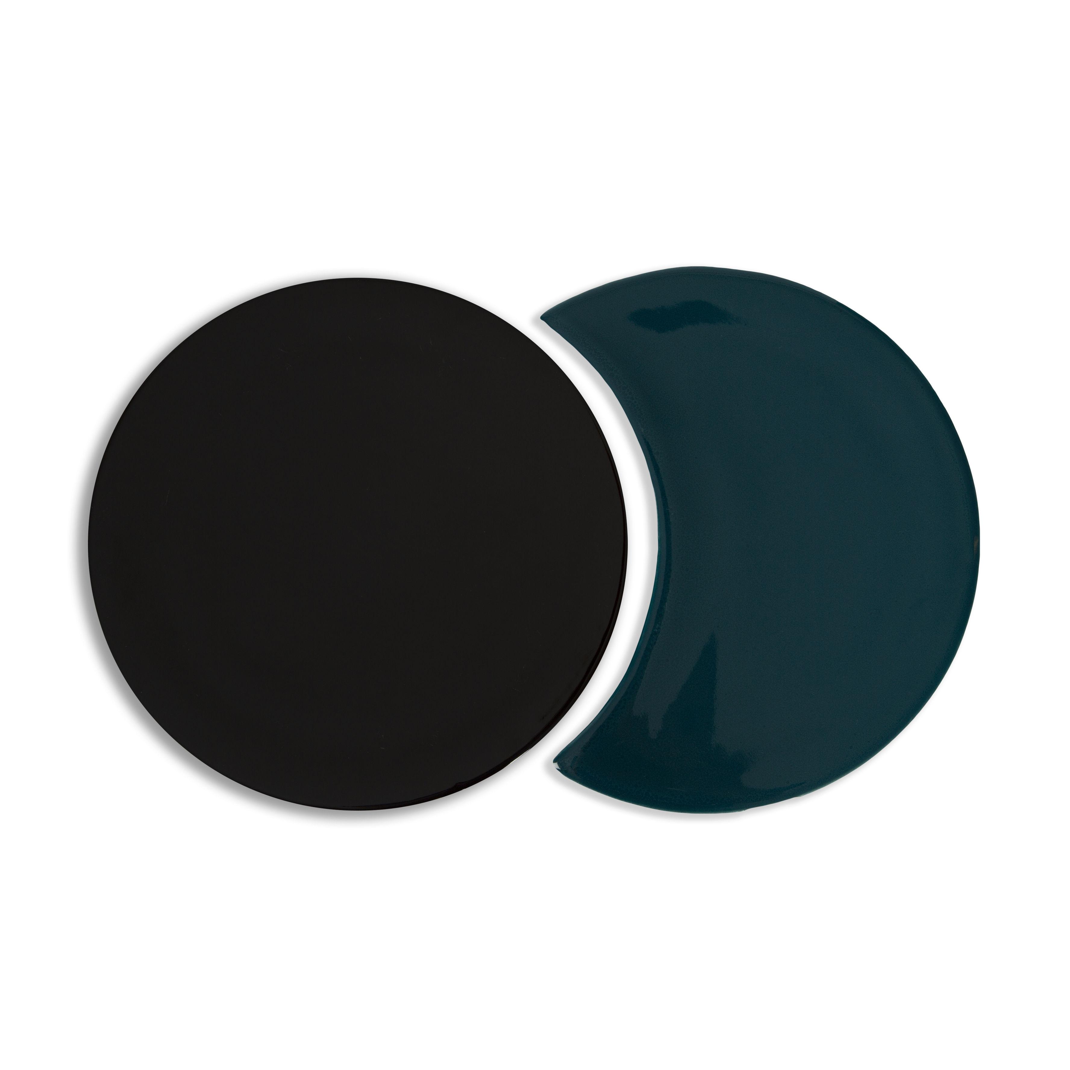 Tableware - Table Mats & Trivets - Eclipse Tablemat - / Ceramic - Set of 2 interlocking shapes by Maison Sarah Lavoine - Sarah blue - Ceramic