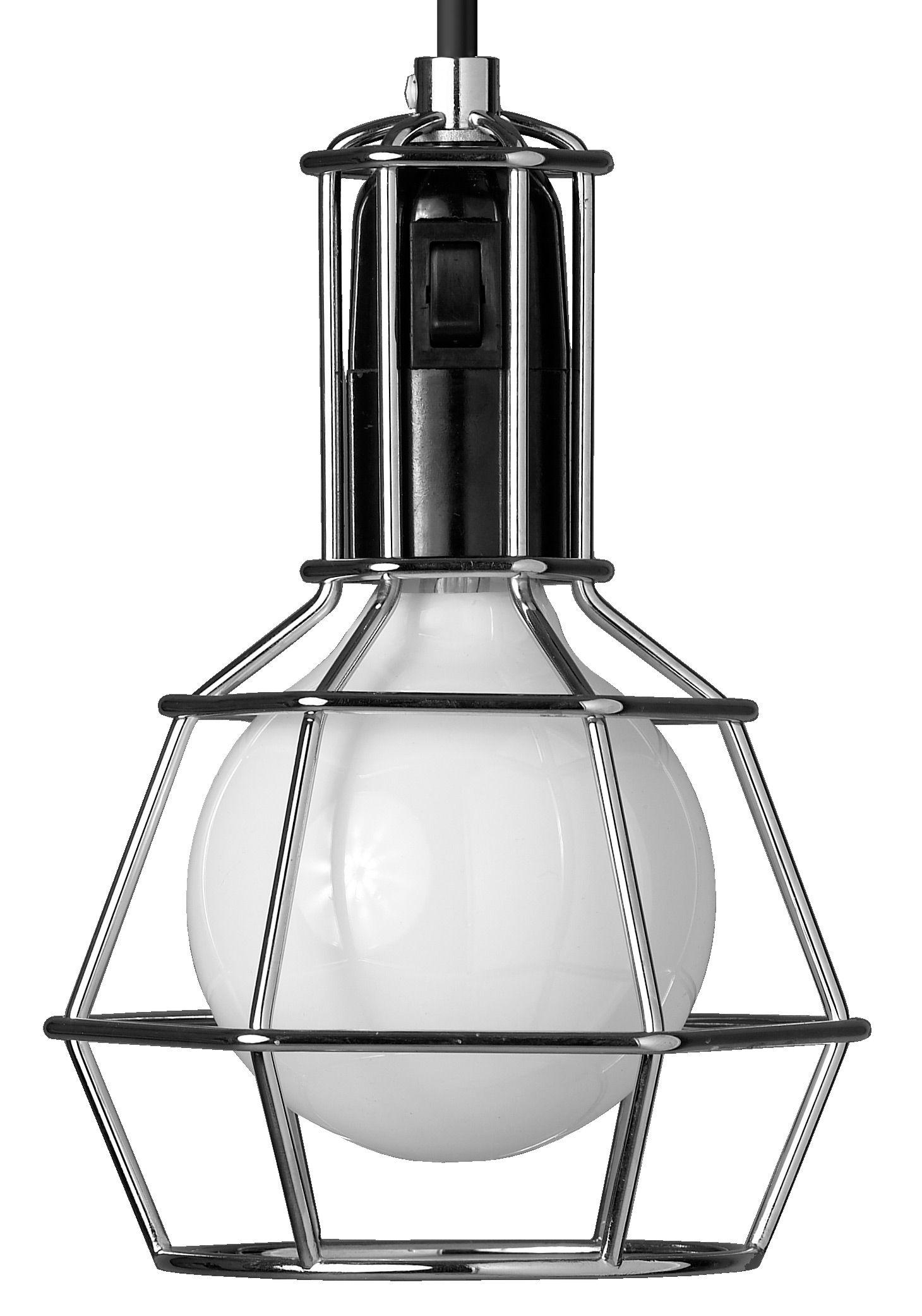 Leuchten - Tischleuchten - Work Taschenlampe Tisch- und Pendelleuchte - Design House Stockholm - Silber - verchromter Stahl