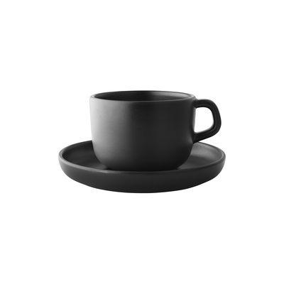 Arts de la table - Tasses et mugs - Tasse avec soucoupe Nordic Kitchen 20 cl - Grès - Eva Solo - Noir - Grès