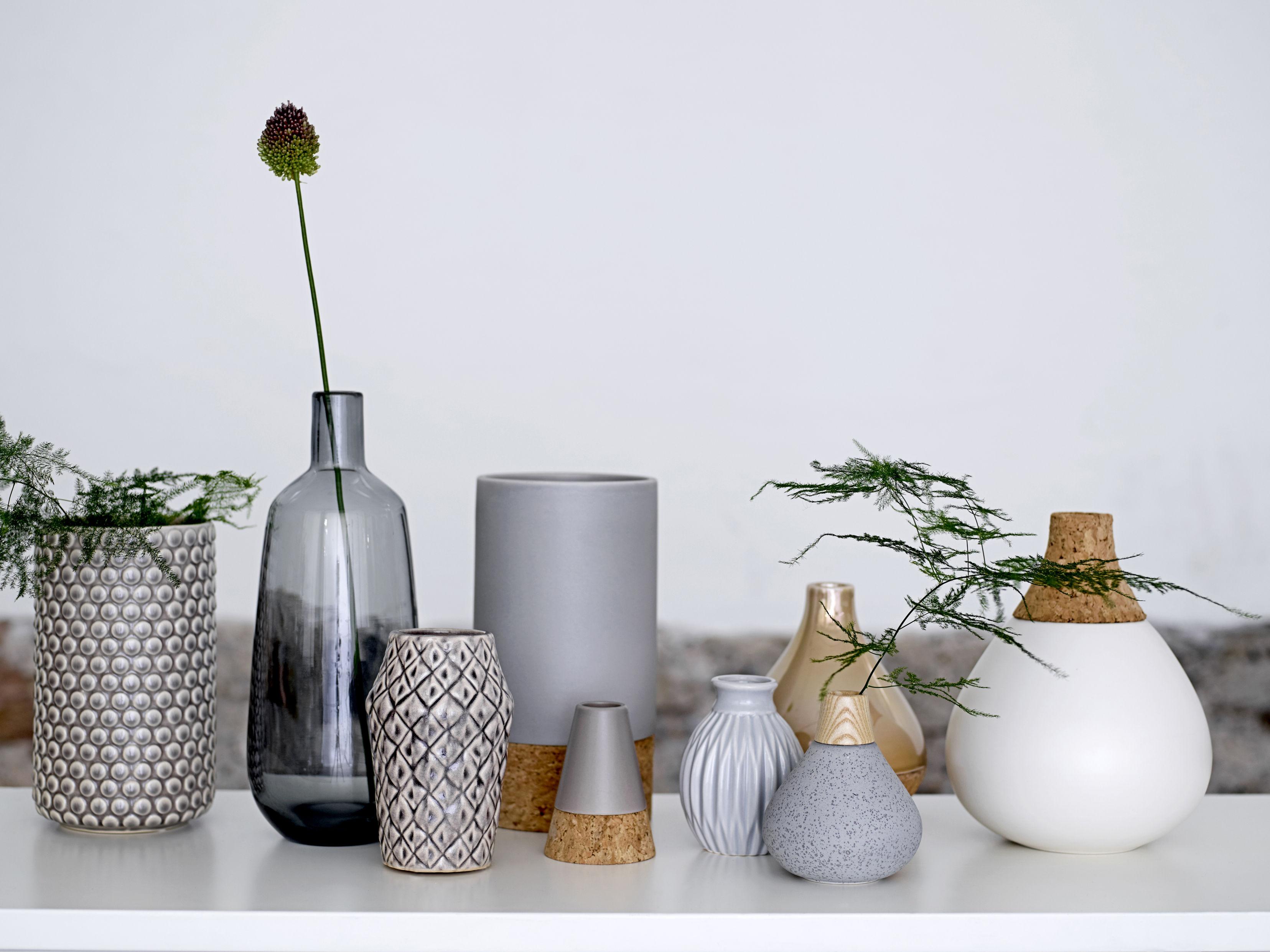 Vase Keramik Und Kork O 18 Cm X H 22 Cm Bloomingville