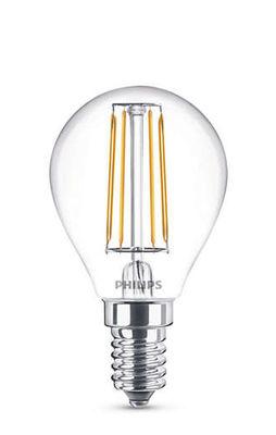 Ampoule LED E14 Sphérique filament / 4,3W (40W) - 470 lumen - Philips transparent en verre
