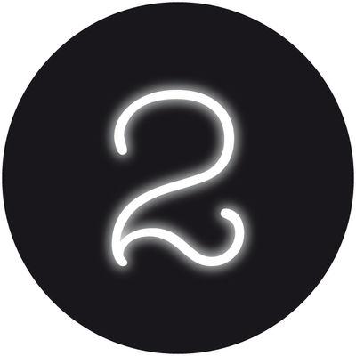 Applique avec prise Neon Art / Chiffre 2 - Seletti blanc en verre