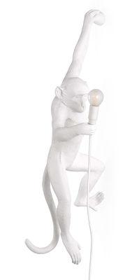 Illuminazione - Lampade da parete - Applique d'esterno Monkey Hanging - / Outdoor - H 76,5 cm di Seletti - Bianco - Resina