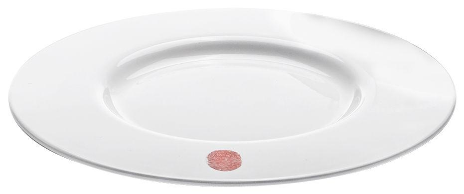 Arts de la table - Assiettes - Assiette I.D.Ish by D'O Summer / Mélamine - Kartell - Blanc / Empreinte blanc cassé - Mélamine