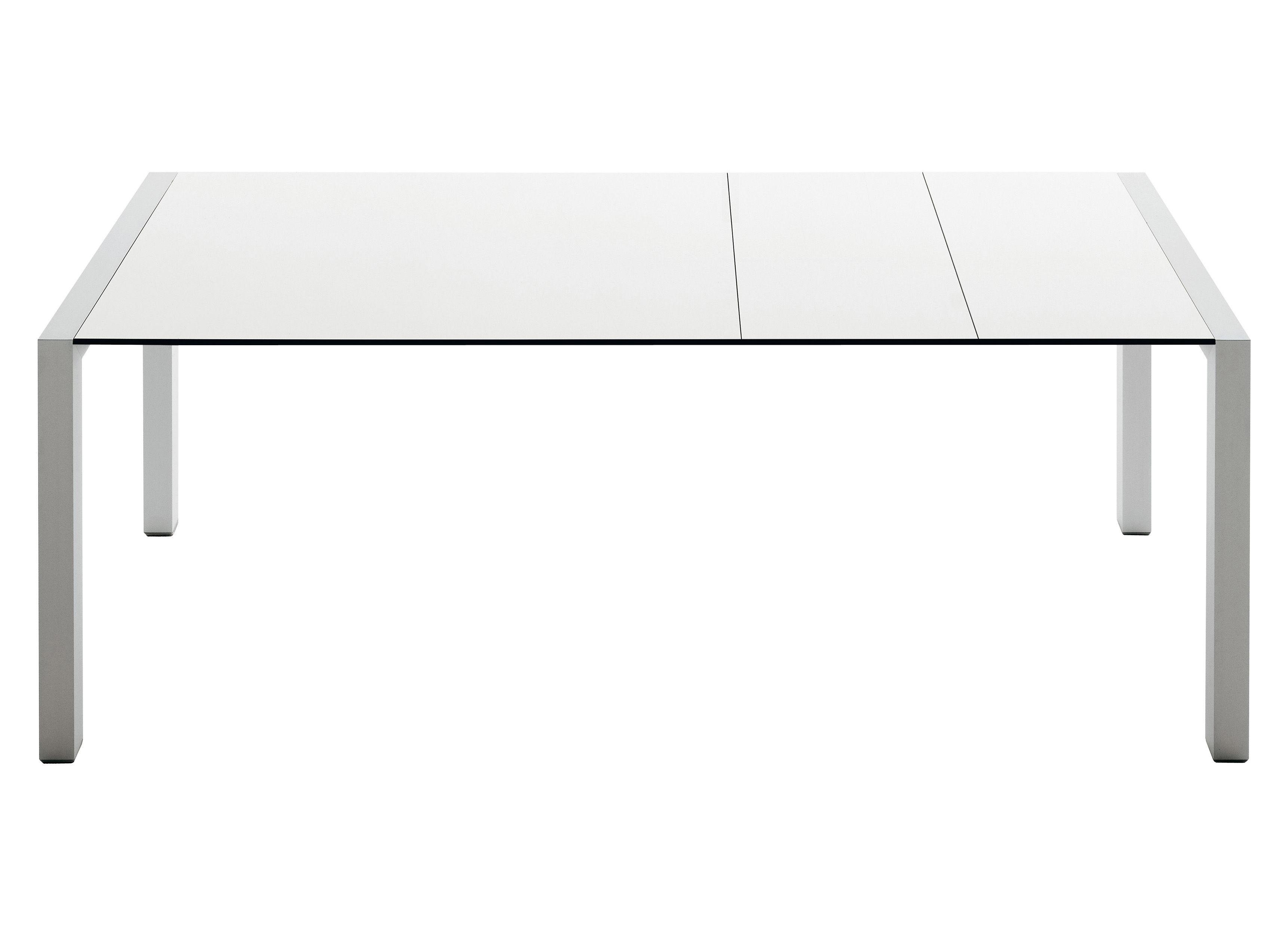 Outdoor - Tische - Sushi Outdoor Ausziehtisch L 177 bis 290 cm - Kristalia - Tischplatte hellgrau / Füße anthrazitgrau - lackiertes Aluminium